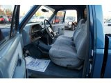 1989 Ford F150 Regular Cab 4x4 Blue Interior