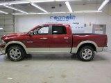 2009 Inferno Red Crystal Pearl Dodge Ram 1500 Laramie Crew Cab 4x4 #45331298