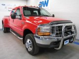 Vermillion Red Ford F350 Super Duty in 1999