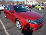 2011 Red Candy Metallic Ford Fusion Sport AWD #45331225
