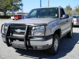 2004 Silver Birch Metallic Chevrolet Silverado 1500 Z71 Regular Cab 4x4 #45332115