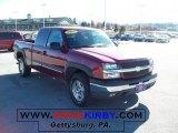 2004 Sport Red Metallic Chevrolet Silverado 1500 Z71 Extended Cab 4x4 #45395393