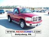 2007 Inferno Red Crystal Pearl Dodge Ram 1500 SLT Regular Cab 4x4 #45395396