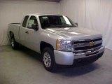 2011 Sheer Silver Metallic Chevrolet Silverado 1500 Extended Cab #45395434