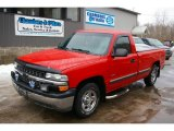 2002 Victory Red Chevrolet Silverado 1500 Work Truck Regular Cab #45394888
