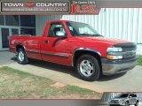 2000 Victory Red Chevrolet Silverado 1500 LS Regular Cab #45395463