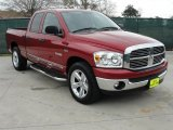 2008 Inferno Red Crystal Pearl Dodge Ram 1500 Lone Star Edition Quad Cab #45394913