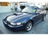 2002 True Blue Metallic Ford Mustang GT Convertible #45450110