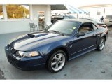 True Blue Metallic Ford Mustang in 2002