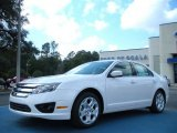 2011 White Platinum Tri-Coat Ford Fusion SE #45449388