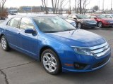 2011 Steel Blue Metallic Ford Fusion SE #45395032