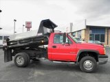 2003 Victory Red Chevrolet Silverado 3500 Regular Cab 4x4 Chassis Dump Truck #45396633