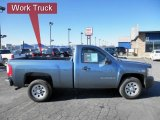 2008 Blue Granite Metallic Chevrolet Silverado 1500 Work Truck Regular Cab #45396640