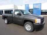2011 Taupe Gray Metallic Chevrolet Silverado 1500 Regular Cab 4x4 #45449558