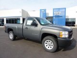 2011 Steel Green Metallic Chevrolet Silverado 1500 Regular Cab 4x4 #45449568