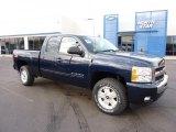 2011 Imperial Blue Metallic Chevrolet Silverado 1500 LT Extended Cab 4x4 #45449583