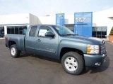 2011 Blue Granite Metallic Chevrolet Silverado 1500 LT Extended Cab 4x4 #45449584