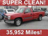 2004 Victory Red Chevrolet Silverado 1500 LS Regular Cab #45496295