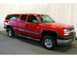 2003 Victory Red Chevrolet Silverado 2500HD LS Extended Cab 4x4 #45449649