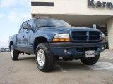 2003 Atlantic Blue Pearlcoat Dodge Dakota Sport Quad Cab 4x4 #45498074