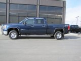 2009 Midnight Blue Metallic GMC Sierra 2500HD SLE Crew Cab 4x4 #45498088