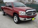 2007 Inferno Red Crystal Pearl Dodge Ram 1500 Lone Star Quad Cab 4x4 #45449688