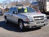 2005 Silver Birch Metallic Chevrolet Silverado 1500 LS Crew Cab #45498199