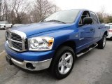 2008 Electric Blue Pearl Dodge Ram 1500 Big Horn Edition Quad Cab 4x4 #45498309