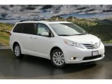 2011 Blizzard White Pearl Toyota Sienna Limited AWD #45448268
