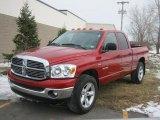 2008 Inferno Red Crystal Pearl Dodge Ram 1500 Big Horn Edition Quad Cab 4x4 #45450732