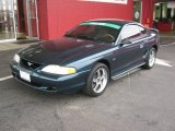 1995 Deep Forest Green Metallic Ford Mustang GT Coupe #45497706