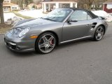 2008 Meteor Grey Metallic Porsche 911 Turbo Cabriolet #45448893