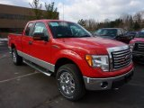 2011 Race Red Ford F150 XLT SuperCab 4x4 #45497443