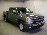 2011 Steel Green Metallic Chevrolet Silverado 1500 LT Crew Cab #45450207