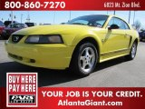 2001 Zinc Yellow Metallic Ford Mustang V6 Coupe #45691427