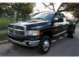 2004 Black Dodge Ram 3500 Laramie Quad Cab 4x4 Dually #45497549