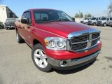2008 Inferno Red Crystal Pearl Dodge Ram 1500 Big Horn Edition Quad Cab #45726221