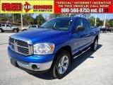 2007 Electric Blue Pearl Dodge Ram 1500 Big Horn Edition Quad Cab 4x4 #45690762