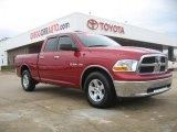 2010 Inferno Red Crystal Pearl Dodge Ram 1500 SLT Quad Cab #45726280