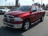 2011 Deep Cherry Red Crystal Pearl Dodge Ram 1500 Big Horn Quad Cab 4x4 #45691124