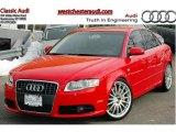 2008 Brilliant Red Audi A4 2.0T quattro S-Line Sedan #45770569