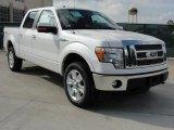 2011 White Platinum Metallic Tri-Coat Ford F150 Lariat SuperCrew 4x4 #45648436