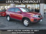 2011 Spicy Red Kia Sorento LX AWD #45725977