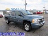 2009 Blue Granite Metallic Chevrolet Silverado 1500 LT Crew Cab 4x4 #45727526