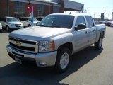 2011 Sheer Silver Metallic Chevrolet Silverado 1500 LT Crew Cab #45690753