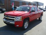 2011 Victory Red Chevrolet Silverado 1500 LT Extended Cab 4x4 #45690757