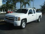 2011 Summit White Chevrolet Silverado 1500 LT Extended Cab 4x4 #45770138