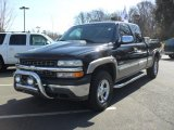 2000 Onyx Black Chevrolet Silverado 1500 Z71 Extended Cab 4x4 #45648884