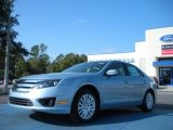 2011 Light Ice Blue Metallic Ford Fusion Hybrid #45770180