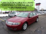 2008 Vivid Red Metallic Lincoln MKZ Sedan #45726060